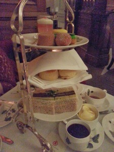 Traditional afternoon tea @ English Tea Room in Brown's Hotel