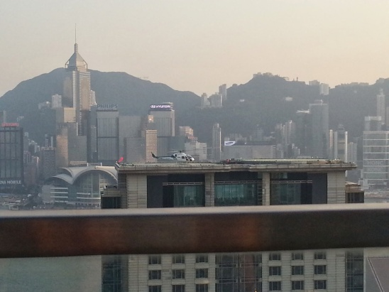 View of the helipad at the Peninsular Hotel