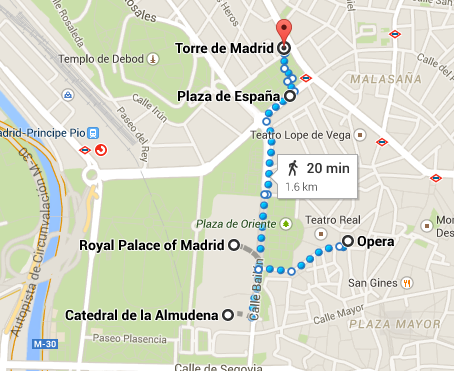 Madrid Day 3 (Google Map)
