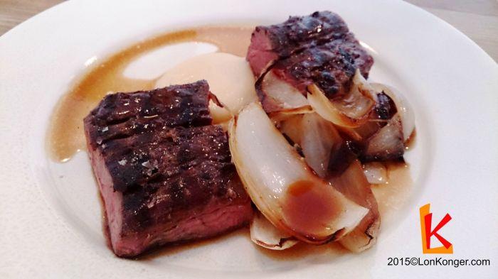 [Dexter Flank, Onions & Seaweed] 第一次吃Dexter這個愛爾蘭品種的牛,以鮮嫩聞名,吃下去也確實如此。(£17.3)
